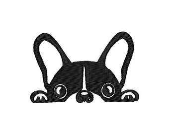 Peeping Dog Machine Embroidery Design – Instant Download (PES, DST, and MORE)