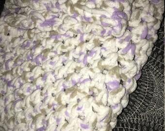 Super soft baby blanket, handmade, crochet!