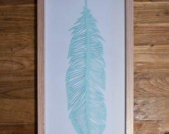Papercut Feather - Mint