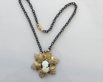 brass 14 resin necklace