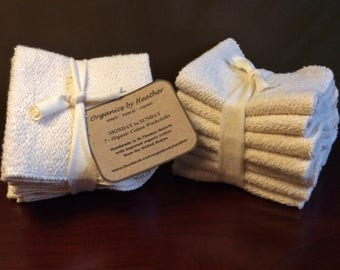 Organic Cotton Washcloth Set- 7 pack