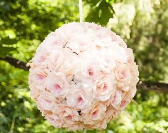 12 In. Silk Flower Ball