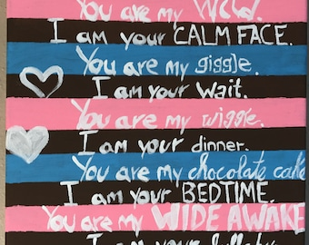 I Am Your Parent You Are My Child Poem Canvas Painting