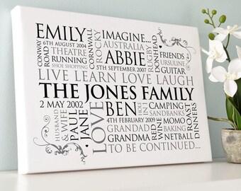 Personalised Family Word Art
