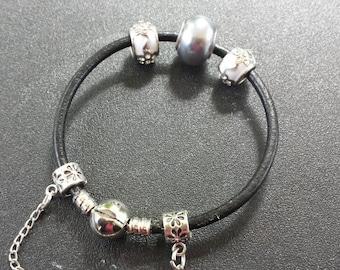 Grey and white Pandora bracelet