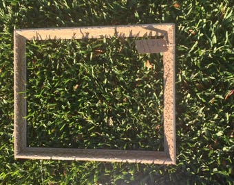 Large antique wood frame