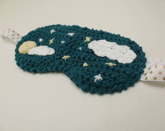 Sleep Mask - Original night mask for to rest (crochet)