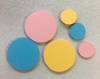 Die Cut Circles, Paper Supplies, Embellishment, Gift Tag, 25 count, Die Cut Shapes, Custom Tags, Circle