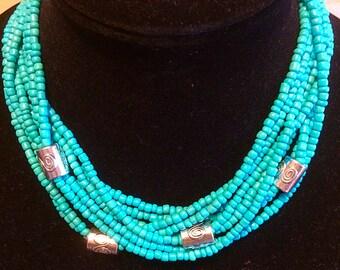 Multi strand turquoise.