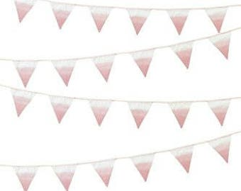 We Heart Pink Pink Fabric Bunting