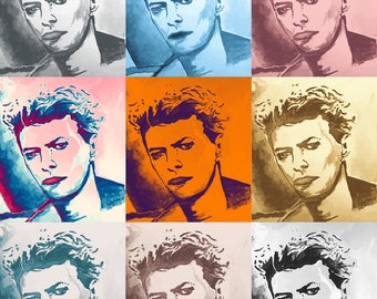 David Bowie Fabric /fabric panel / cushion / cushions/ upholstery / sewing supplies / craft supplies /fabric / material