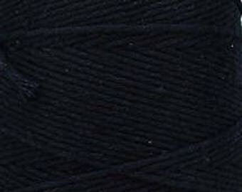 Cotton Yarn MiraYarn 400 g/240 m # 2 or Baba # 8 Black Twine Baker's Twine Cotton Crochet Thread