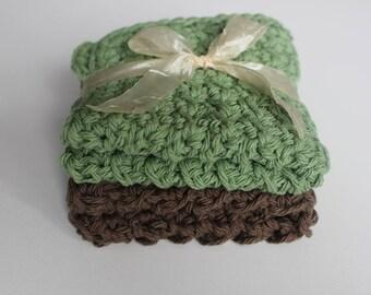 Handmade cotton crochet dishcloths, crochet washcloths, cleaning cloths, Eco friendly, reusable, gift ideas