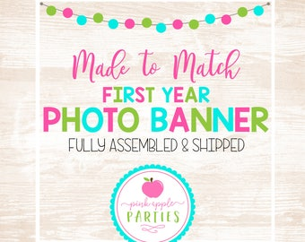 Made to Match - 12 Month Photo Banner, First Year Photo Banner