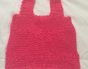 Hot pink 2-3t crochet toddler girls top