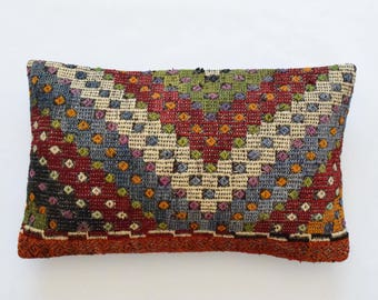 "Kilim rug pillow cover 16""x26"" (40x65cm) 006"