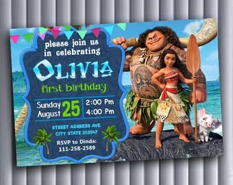 Moana Invitation Personalized,Moana,Moana Invitation,Moana Birthday,Moana Birthday Invitation,Moana Birthday Party,Moana Birthday Invite