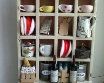 Decorative White Rustic Mini Sideboard Wall Decor