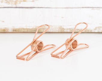 2pcs Vintage Rose Gold Fishtail Clip / Binder Clip / 3 Size to Choose from
