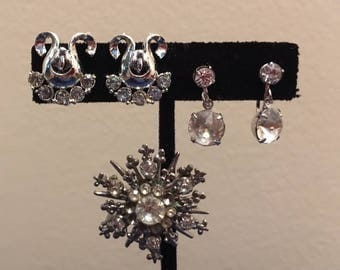 Collection of 1950s Sparkling Rhinestone Jewelry