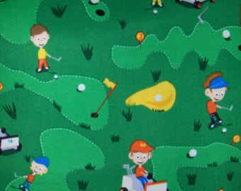 Michael Miller Fabric by the Yard - Golf Kid OOP