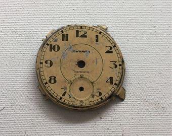 Vintage 1940s pocket watch face