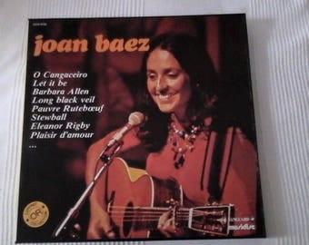 Box of 3 Joan Baez records