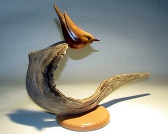 Nuthatch original wood bird carving