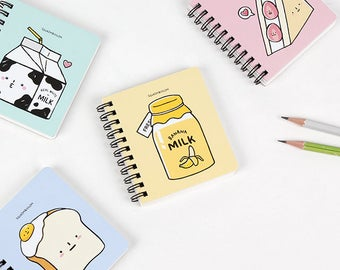 Mini Notebook / 4 pieces notebook set / 01-n