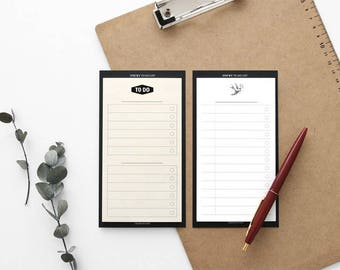 Sticky To-Do List / Sticky Memo pad / 2colors[White,Yellow] / D-07 / 1674434