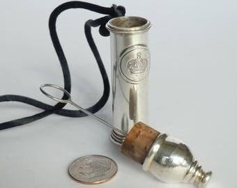 Vintage Silver-Plated Bubble Blower Pendant