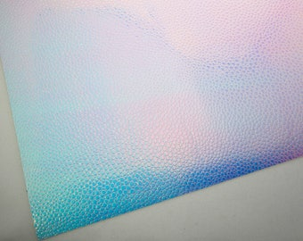 Mermaid Magic Holographic 8X11 Textured Fabric, White Soft Cotton Backing, Color Changing