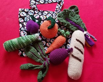 hand crafted crochet play food