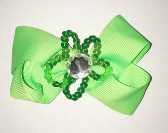 Neon Green Hair Bow