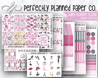 Fashion Collection // Full Weekly Kit // Happy Planner Classic [H010]