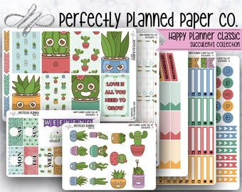 Succulents Collection // Full Weekly Kit // Happy Planner Classic