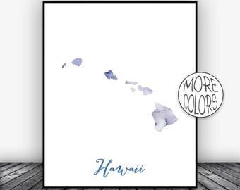 Hawaii Art Print Hawaii Decor Hawaii Print Hawaii Map Art Marble Art Map Print Map Wall Art Marble Decor ArtPrintsZoe