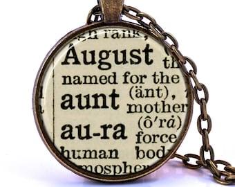 Aloha Dictionary Pendant Necklace