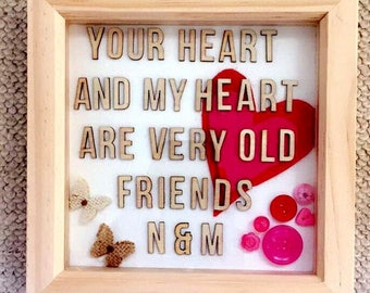 Personalised Love/Friendship Quote Frame