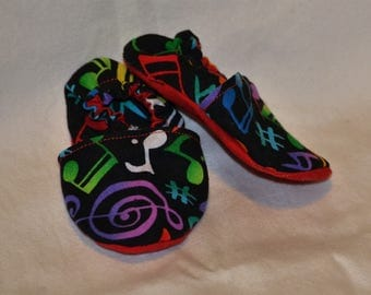 Music Note Baby Booties