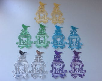 10x bird and cage die cuts