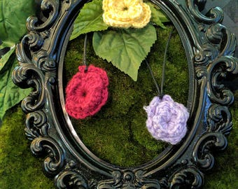 Crochet Flower Neckace