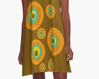 Dress, Summer Dress, Party Dress, Retro Dress, XL Dress,  Retro, Mini Dress, Mod Dress, Sheer Summer Dress, Casual Dress
