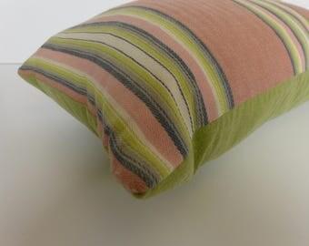 Vintage Ticking Lumbar Pillow - 12 x 20
