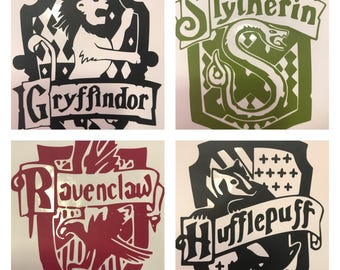 Harry Potter House Crest Decal
