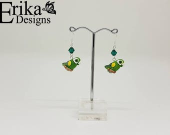 Parrot Swarovski Crystal Earrings