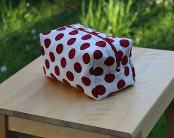 Clutch bags, cosmetic bag handmade_un world of polka dots