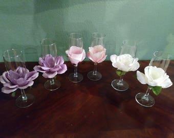 Wedding or Anniversary Toasting Flutes