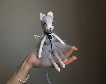 tiny ballerina kitty art doll