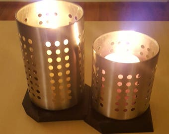 Metal/Wood Candle Holders